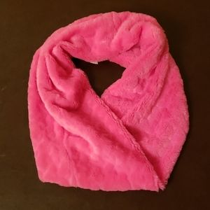 Pink Faux Fur Infinity Scarf